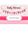 baby girl shower invitation card design template vector image