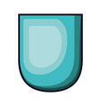 badge in aquamarine color with brightness vector image