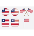 badges with flag of Liberia vector image vector image