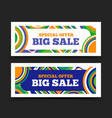 big sale banner special offer sale design vector image