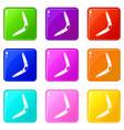 boomerang icons 9 set vector image vector image