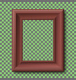 brown wooden vintage frame isolated vector image