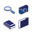 business concept isometric set icons vector image vector image
