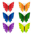 butterfly isolated set vector image vector image