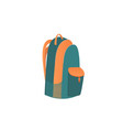 camping bag knapsack a school backpack with vector image