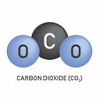 carbon dioxide molecular formula vector image vector image
