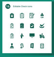 check icons vector image vector image
