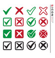 check mark set icon design set vector image