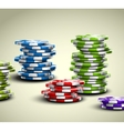 Colorful casino chips vector image vector image