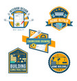 construction home repair and interior icons vector image vector image