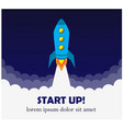 contributions and starting a business and rocket vector image vector image