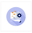 digital asset management flat icon