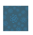 Dirty blue floral seamless pattern vector image vector image