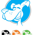 Dog Face Cartoon Icon vector image vector image
