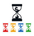 dollar sign in hourglass vector image