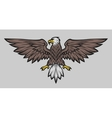 Eagle mascot spread wings Color version vector image vector image