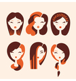 fashion girls vector image vector image
