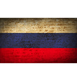 Flags Russia with dirty paper texture vector image