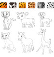game make the choice skin matching wild animals vector image