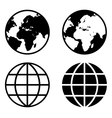 Globe Earth Icons vector image vector image