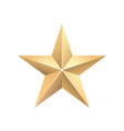 golden 3d star with highlights vector image vector image
