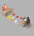 hacking user concept isometric vector image