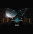 head-up display elements for spaceship vector image vector image