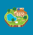 home isometric flat style design architecture vector image