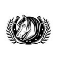 horse and horseshoe vector image
