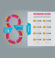 info graphic for site design business data vector image