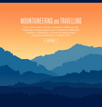 landscape with twilight in blue mountains vector image vector image