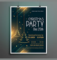 lovely merry christmas party invitation flyer vector image