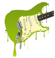 melting guitar vector image vector image