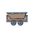 metal mining trolley vector image