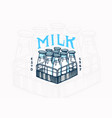 milk label vintage bottles logo for shop farm vector image vector image
