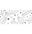 mitragyna speciosa or kratom leaves sketch drawn vector image