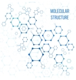 Molecular structure or structural coding vector image vector image
