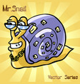 mr snail with style vector image vector image