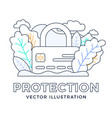 padlock with credit card stock isolated on a vector image vector image