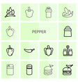 pepper icons vector image vector image