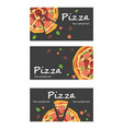 pizza banners vector image