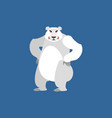 polar bear angry emoji wild animal arctic and vector image
