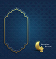 ramadan kareem geometry background vector image