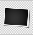 retro realistic photo frame placed on transparent vector image vector image