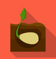 root single icon in flat style root vector image