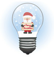 santa in the lamp vector image vector image