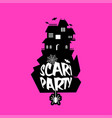 scary night design with typography vector image