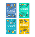 science research flyer banner posters card vector image vector image