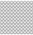 seamless pattern with smile icons vector image vector image