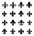 set 16 different fleur de lis symbols vector image vector image